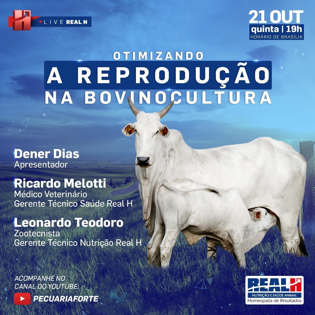 Convite LIVE Otimizando a Reprodução na Bovinocultura